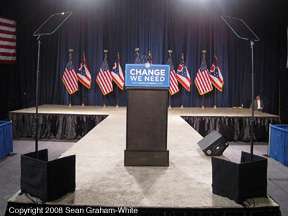 Single Executive Speech Prompter for Barack Obama in Toledo