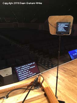 Executive Speech Prompter - with 50